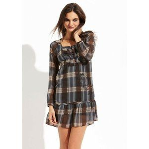 Desigual Dress Mi Momento Plaid Day Ruffle Empire